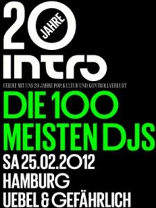 Plakat 20 Jahre Intro Hamburg